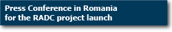 Press Conference in Romania for the RADC project launch